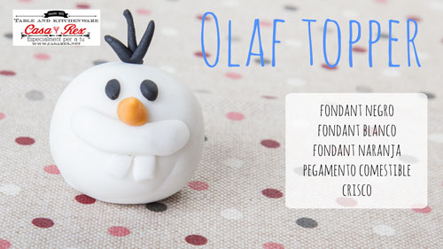 Olaf Frozen tutorial topper